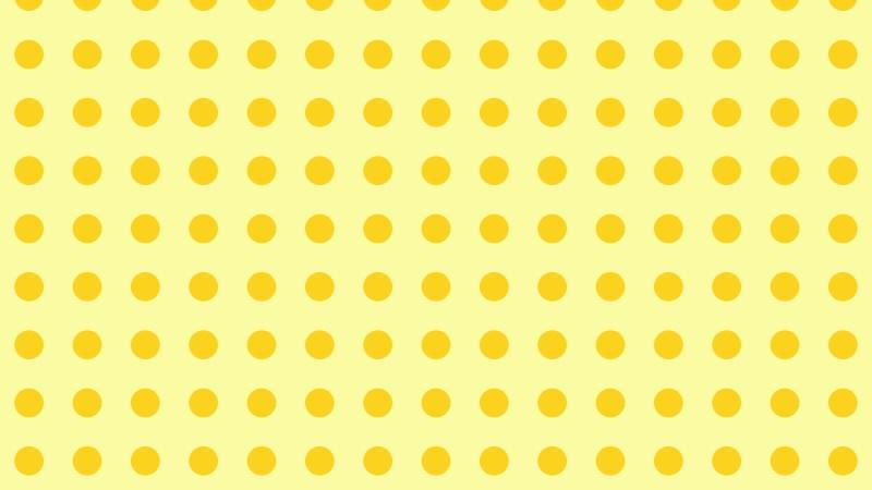 Yellow Seamless Circle Pattern Background Image
