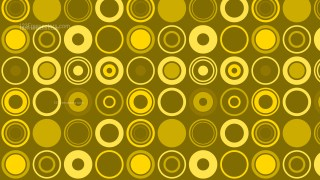 Yellow Seamless Circle Background Pattern Vector Graphic