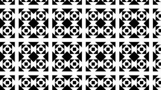 Black and White Geometric Square Background Pattern