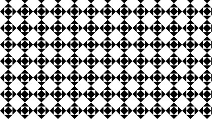 Black and White Seamless Square Pattern