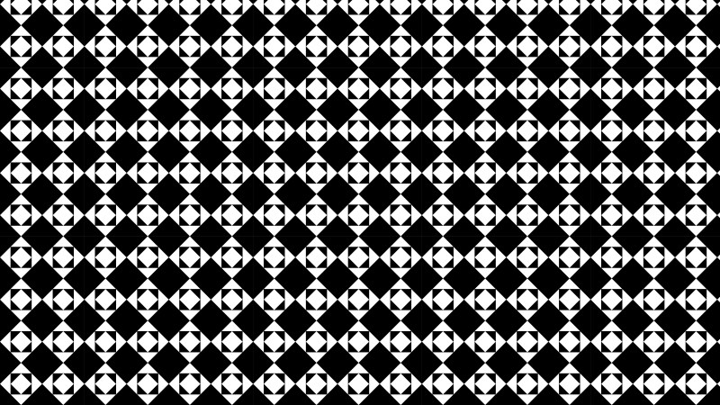 Black and White Seamless Square Pattern Background