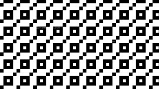 Black and White Seamless Square Background Pattern