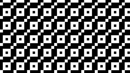 Black and White Seamless Geometric Square Pattern