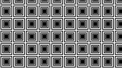 Black and White Concentric Squares Pattern
