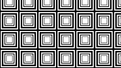 Black and White Concentric Squares Pattern Background
