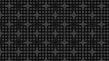 Black Seamless Geometric Square Background Pattern