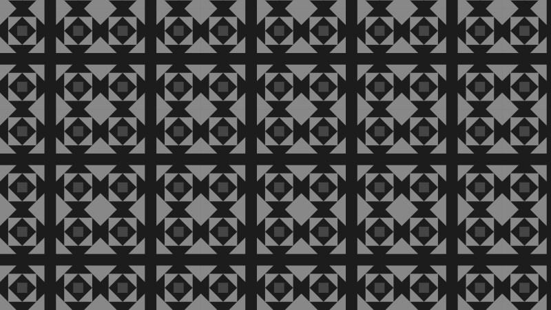 Black Geometric Square Pattern Vector Illustration