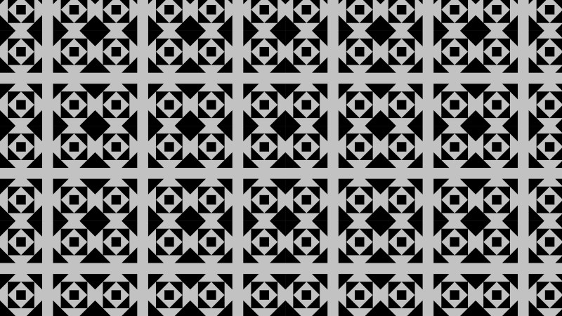 Black and Grey Seamless Square Pattern Graphic