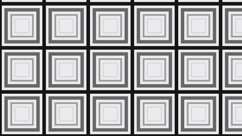 Black and Grey Concentric Squares Background Pattern