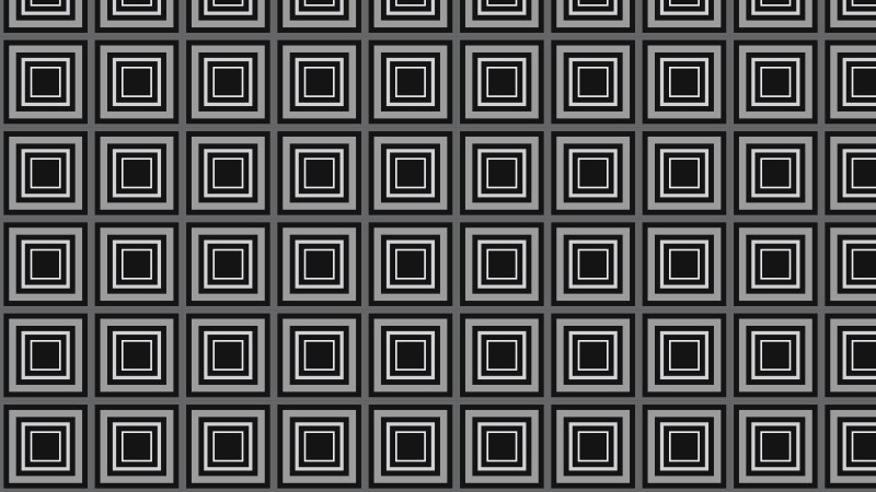 Black and Grey Seamless Concentric Squares Pattern Background