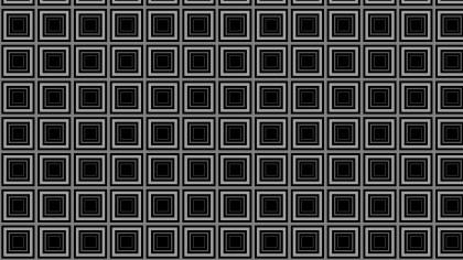 Black Concentric Squares Pattern Background Illustration