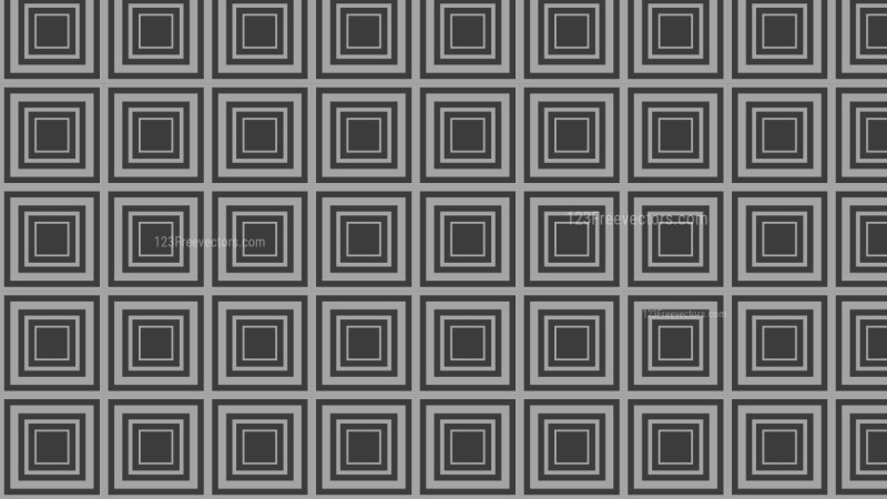 Black and Grey Seamless Concentric Squares Pattern Image
