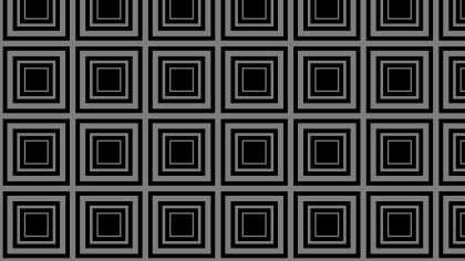 Black and Grey Concentric Squares Pattern