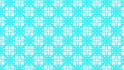 Cyan Geometric Square Pattern