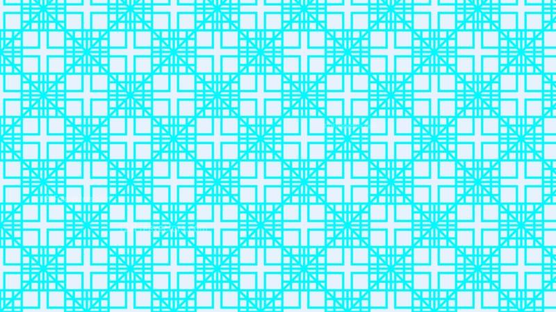 Cyan Geometric Square Pattern
