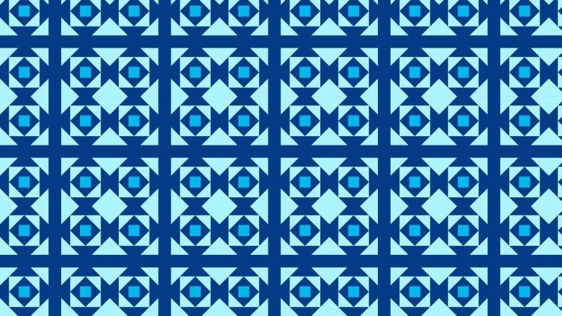 Blue Seamless Square Pattern Design