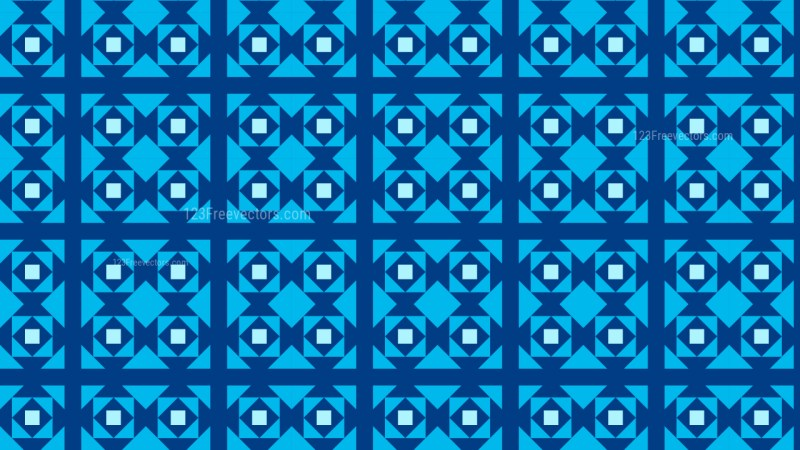 Blue Seamless Square Pattern Background Image