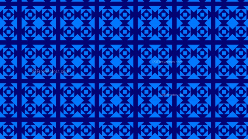 Royal Blue Seamless Geometric Square Background Pattern Vector Illustration