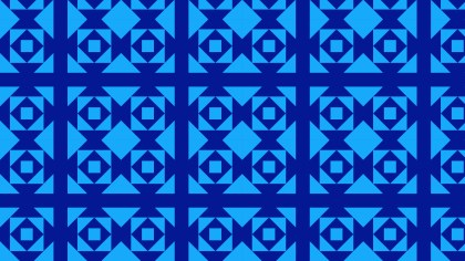 Cobalt Blue Square Pattern