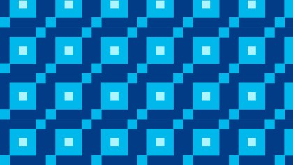 Blue Seamless Geometric Square Pattern Vector Art