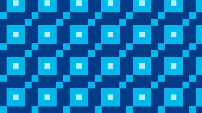 Blue Seamless Geometric Square Pattern Vector Art
