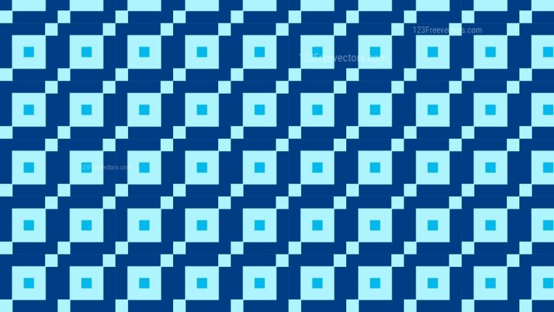 Blue Seamless Geometric Square Background Pattern Illustration