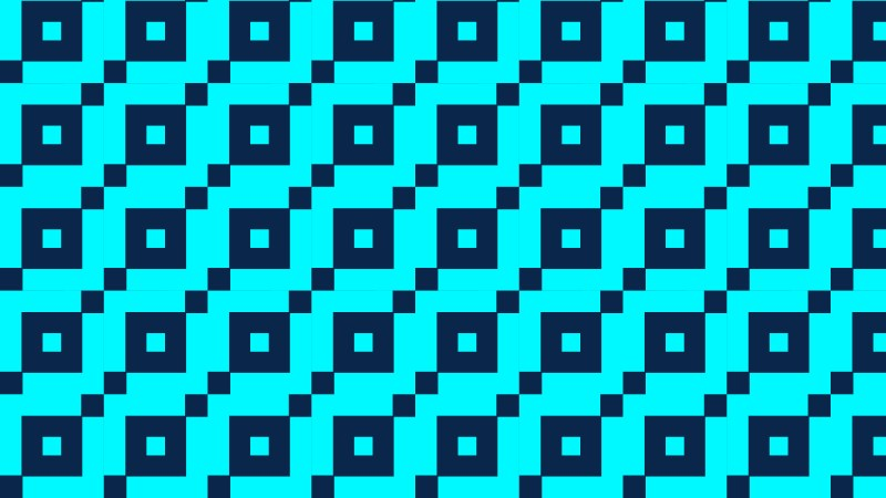 Turquoise Geometric Square Pattern Background