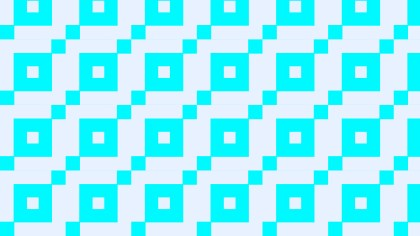Cyan Seamless Square Pattern
