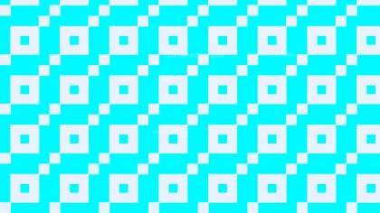 Cyan Seamless Square Pattern Background