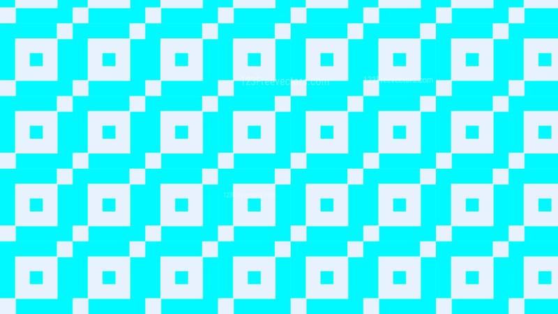 Cyan Seamless Square Pattern Background