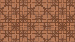 Brown Seamless Geometric Square Pattern Vector Illustration