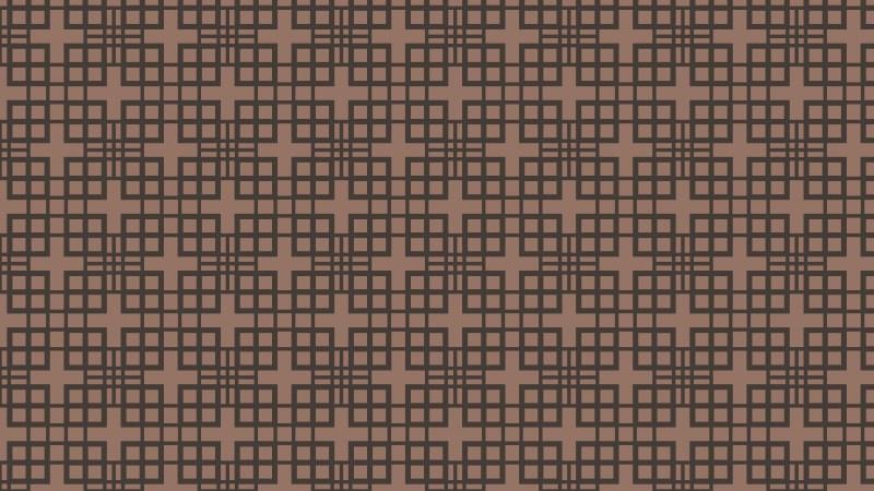 Dark Brown Seamless Geometric Square Pattern