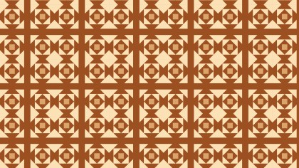 Brown Geometric Square Background Pattern Vector Illustration