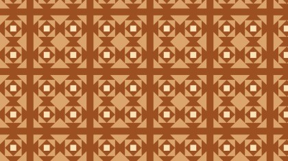 Brown Seamless Square Pattern Vector