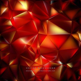 Dark Red Polygon Triangle Background