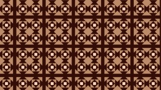 Dark Brown Seamless Geometric Square Pattern Illustration