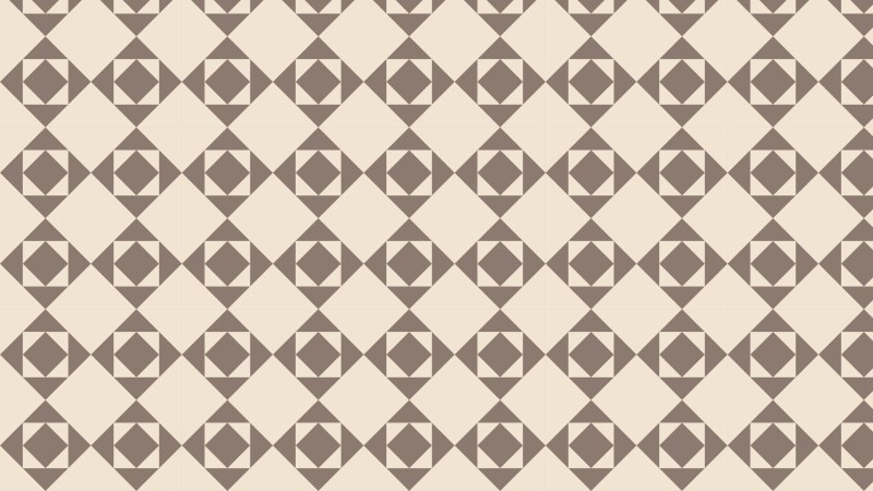 Brown Geometric Square Pattern Vector Art