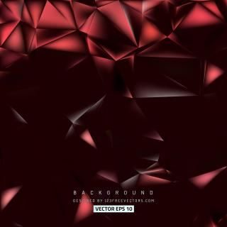 Dark Red Polygon Triangle Pattern Background