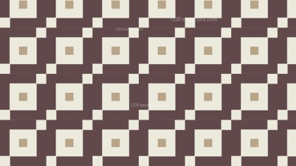 Brown Seamless Square Background Pattern Vector Graphic