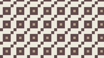 Brown Seamless Geometric Square Pattern Vector Image