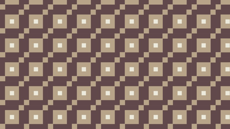 Brown Seamless Geometric Square Pattern Background Illustrator