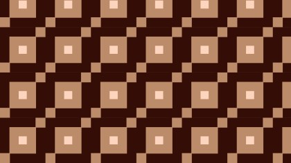 Dark Brown Seamless Geometric Square Background Pattern Vector Illustration