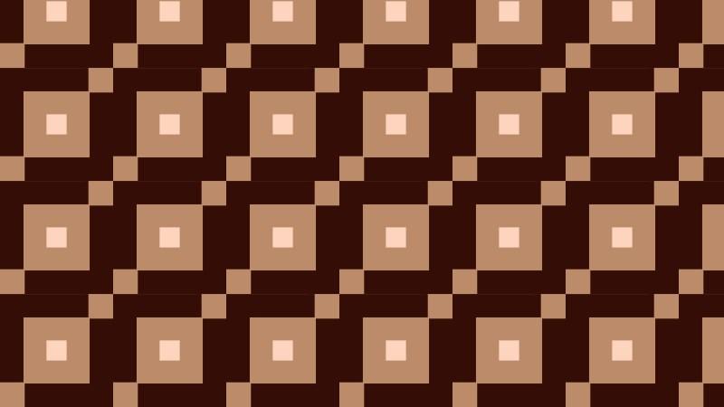 Dark Brown Seamless Geometric Square Background Pattern Vector Illustration
