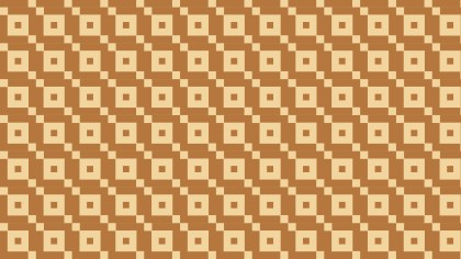Brown Geometric Square Pattern