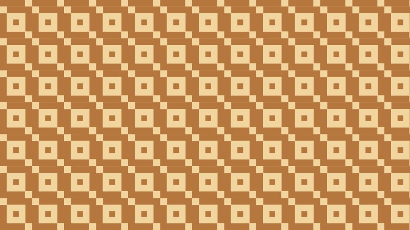 Brown Geometric Square Pattern