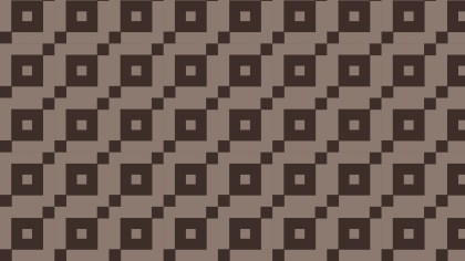 Dark Brown Seamless Square Pattern