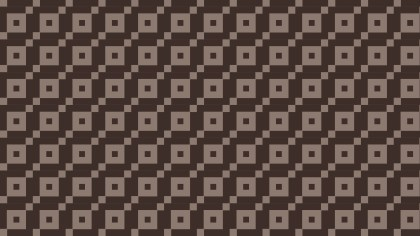 Dark Brown Seamless Square Pattern Background