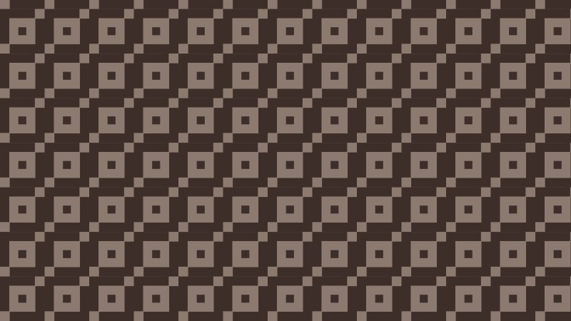 Dark Brown Seamless Square Pattern Background