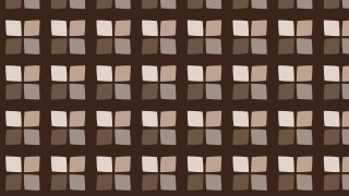 Dark Brown Seamless Geometric Square Background Pattern