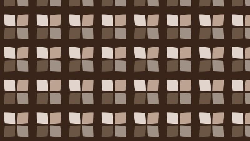 Dark Brown Seamless Geometric Square Background Pattern